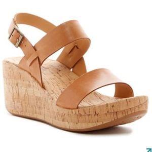 Kork-Ease Tome Cork Platform Sandals Shoe Heels